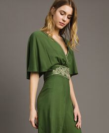 Top cropped in viscose Verde Amazzonia Donna 191LM2RFF-02