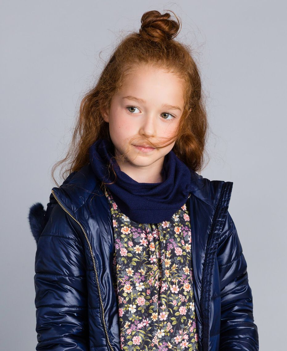 Viscose collar with bow Blackout Blue Child GA8FAB-0S