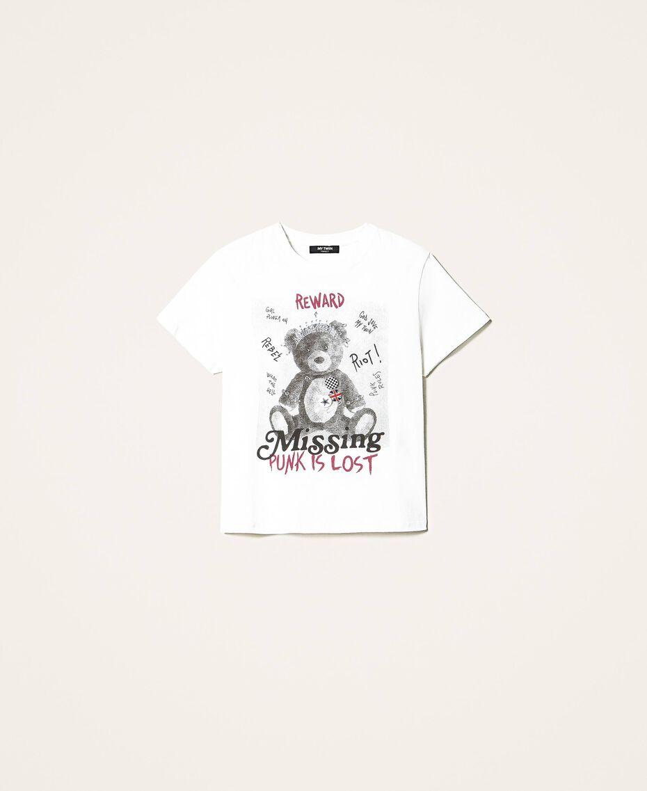 T-shirt avec imprimé et broches Off White Femme 202MT2303-0S