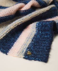 Multicolour stripe scarf Blue Striped Multicolour Woman 202MA4335-02