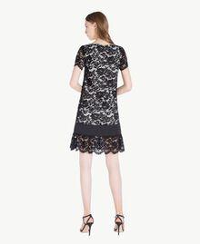 Kleid mit Spitze Schwarz Frau TS828P-03