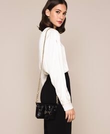 Small Rebel leather shoulder bag White Snow Woman 201TO823T-0S