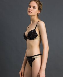 Studs and lace G-string Black Woman 192LL6J88-02
