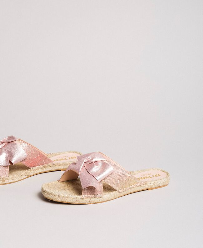 Criss-crossed slippers with bow Powder Woman 191MCP150-03