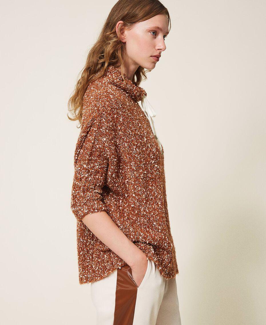 Pull en tweed Rouge Terre cuite Femme 202LI3PGG-02