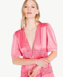 """Silk dress """"Doll"""" Fuchsia Woman PS825B-04"""