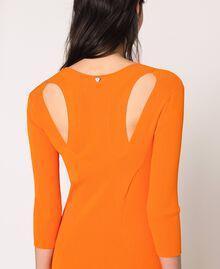 Robe longue côtelée ouverte dans le dos Orange «Calendula» Femme 201MT3032-04