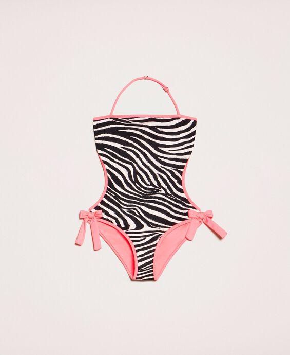 Maillot de bain trikini imprimé animalier