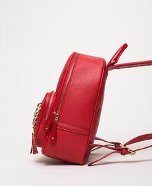 Sac à dos en similicuir matelassé avec charms Rouge Vénitien Femme 201MA7042-03
