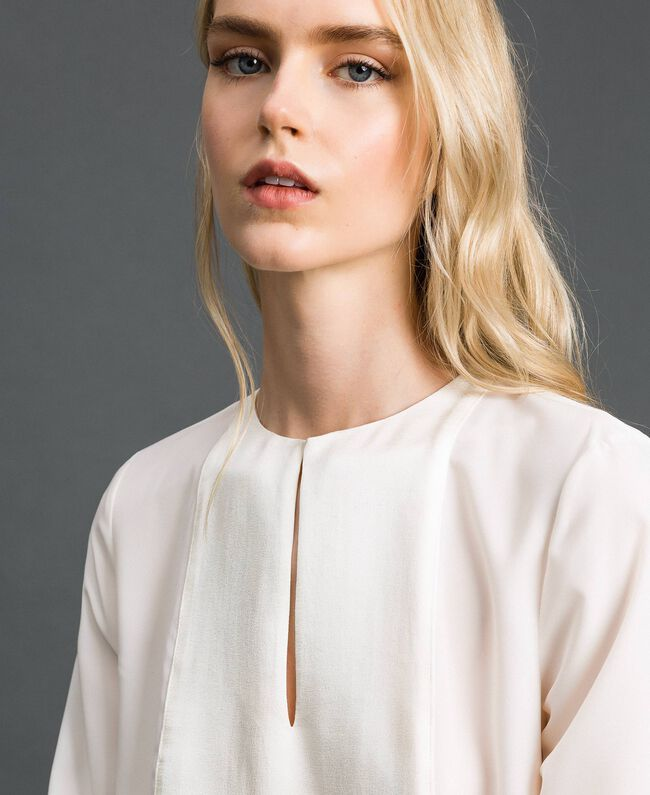 Blouse with pearl embroidery White Snow Woman 192TT2320-01