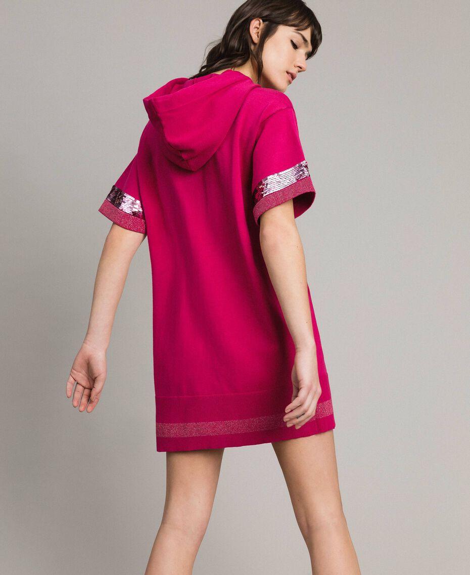 Viscose mini dress with sequins Rose Blossom Woman 191LL35QQ-03