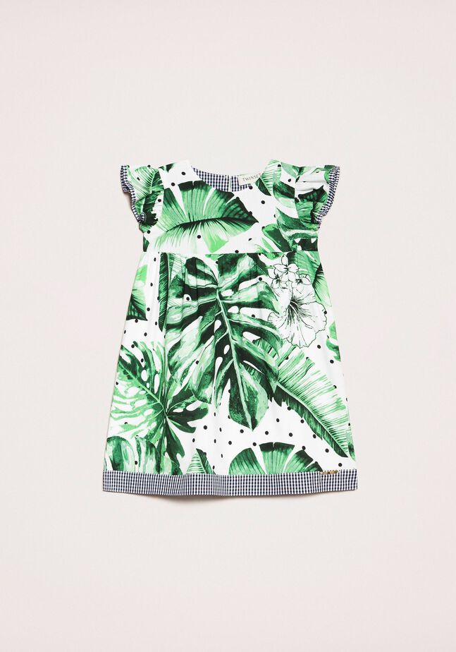 Платье с принтом и деталями в клетку «виши»
