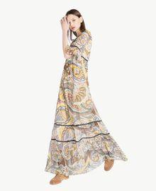 Langes Kleid mit Print Paisleyprint Frau SS82ME-02