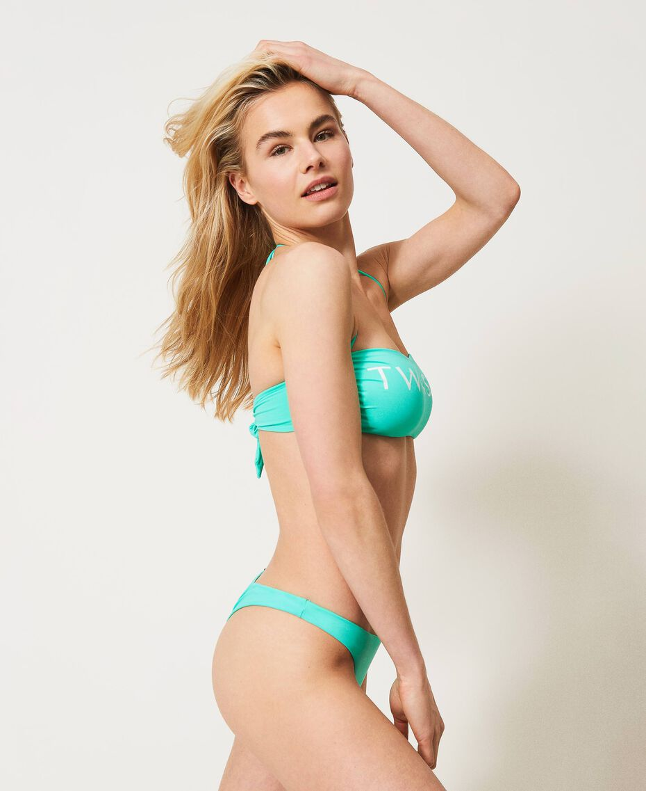 "Bikini con fascia logata e brasiliana Rosa ""Cherry Pink"" Donna 211LMMP11-02"
