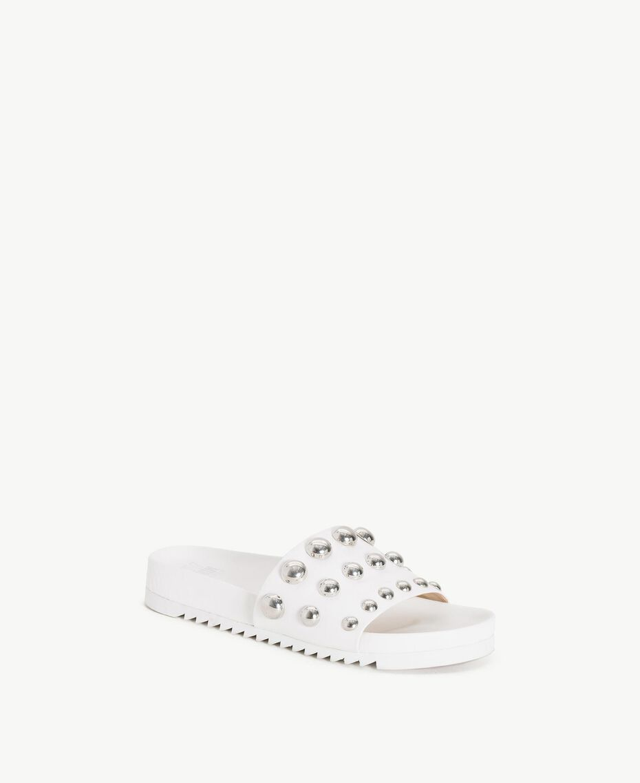 TWINSET Studded slippers White Woman DS8PEA-02
