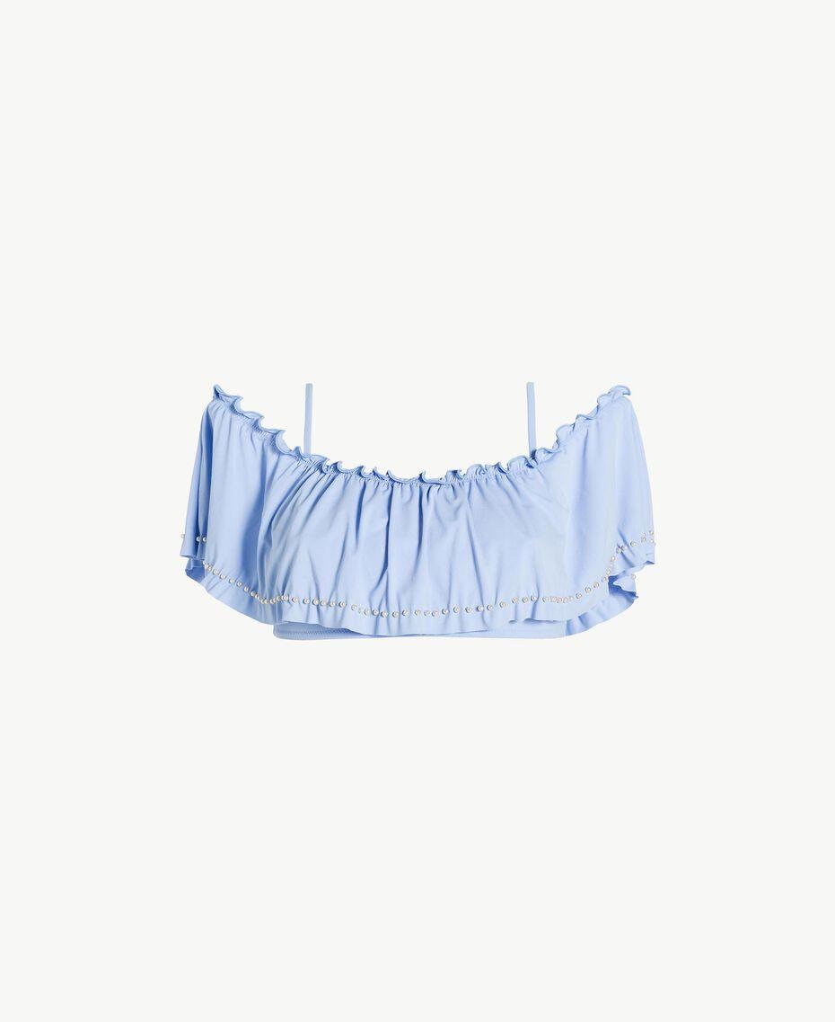 "Flounced bandeau ""Blue Foam"" Blue Woman BS8E33-01"