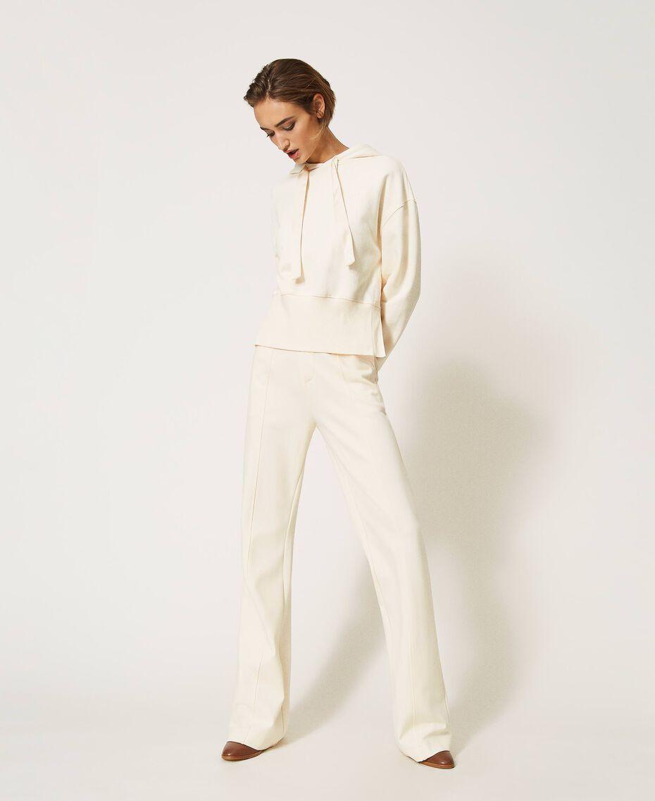 Hoodie Creamy White Woman 202MP2161-01