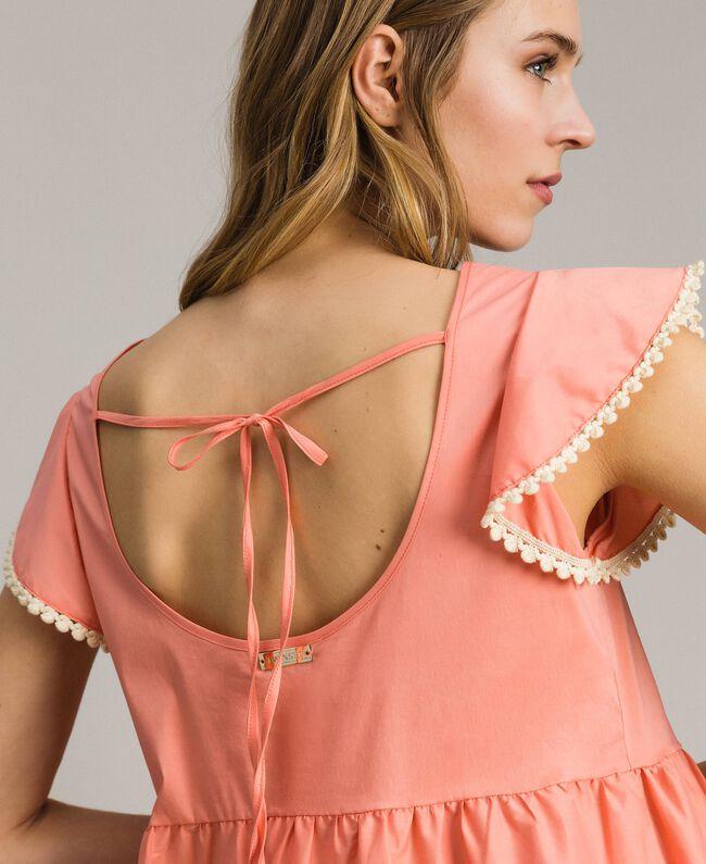 Robe en popeline Blanc Femme 191LB2JFF-04