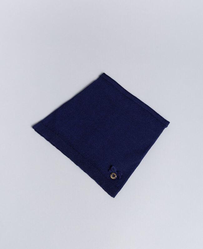 Kragen aus Viskose mit Schleife Blackout Blau Kind GA8FAB-01