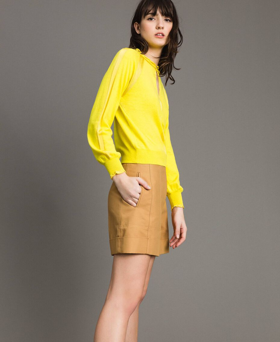 Cashmere mix top Yellow Woman 191TP3060-02