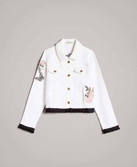 Bull stretch jacket with embroidery