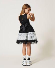 Robe en dentelle et tulle bicolore Bicolore Noir / Blanc Cassé Enfant 211GJ2Q8D-03
