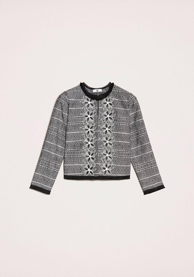 Tweed jacket with embroidery