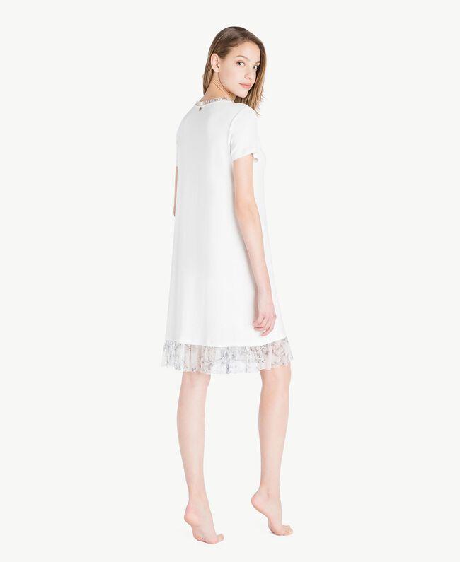Nachthemd aus Jersey Elfenbein Frau LS8DJJ-04