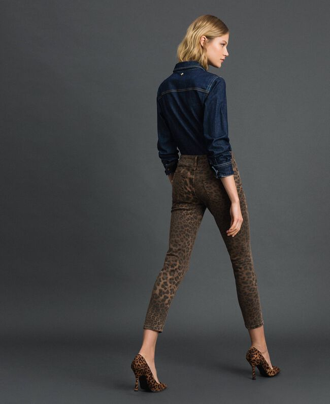 Animal print skinny jeans Animal Print Woman 192MP2211-04