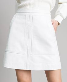 Leather mini skirt White Woman 191TP2163-05