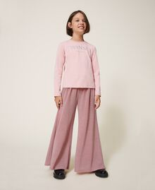 Weite Hose aus Lurex Lurex Matt Pink Kind 202GJ2110-01