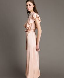 "Long dress with belt ""Nude"" Beige Woman 191TP269B-02"