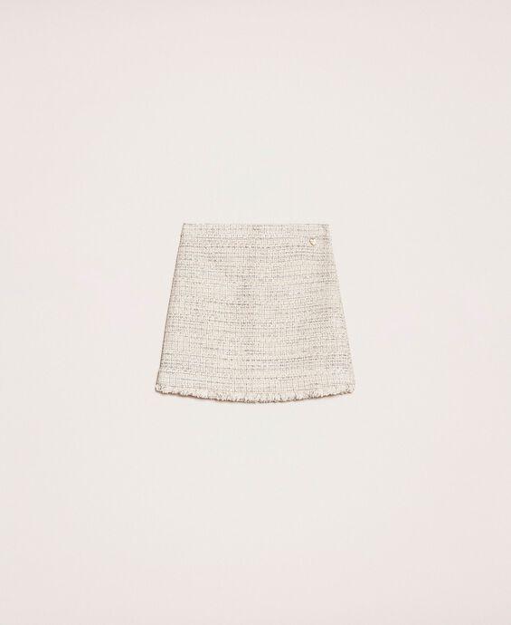 Bouclé fabric short skirt
