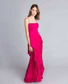 "Long dress ""Anemone"" Fuchsia Woman QS8TGF-01"