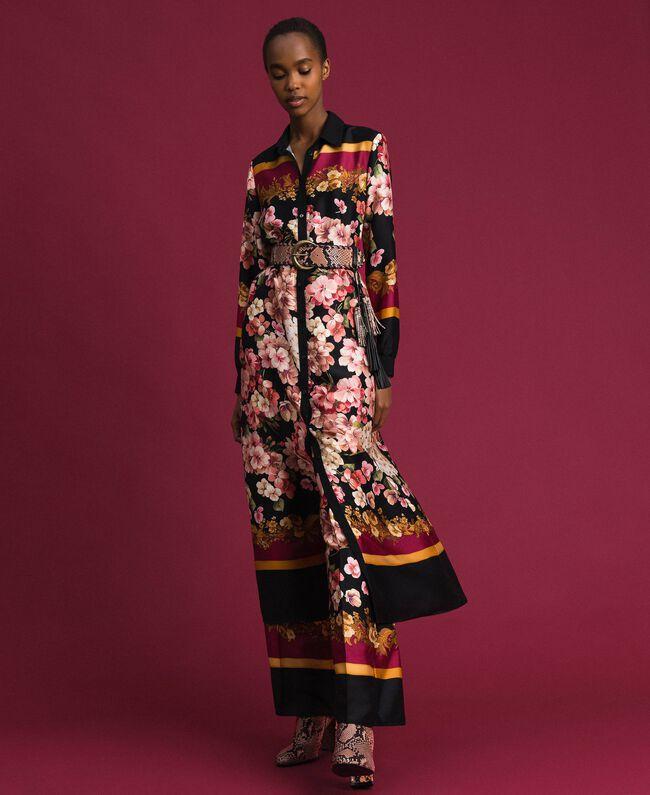 Robe chemisier longue avec imprimé foulard floral Imprimé Foulard Femme 192TP2604-01