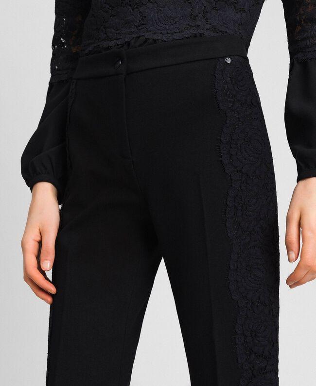 Укороченные брюки с кружевом Белый Снег женщина 192TT2210-04
