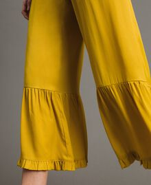 """Silk blend trousers with ruches """"Honey Gold"""" Woman 191TT2073-04"""