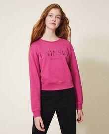 Sweatshirt with logo embroidery Dark Fuchsia Child 202GJ283A-01