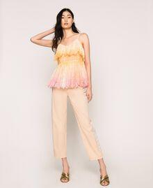 Tie-dye lace top Multicolour Tie Dye Pink Woman 201TT2280-0T