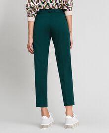 Pantaloni a sigaretta Verde Dark Donna 192TP2091-04