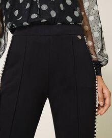 Trousers with pearl embroidery Black Woman 202TT2T52-05