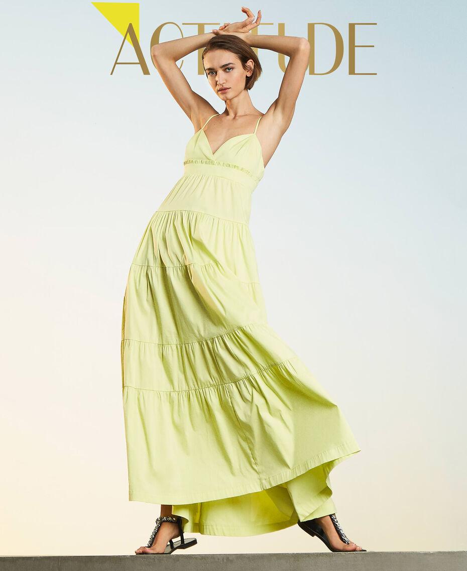"""Draco"" poplin dress with flounces ""Sunny"" Yellow Woman 211MT2265-01"