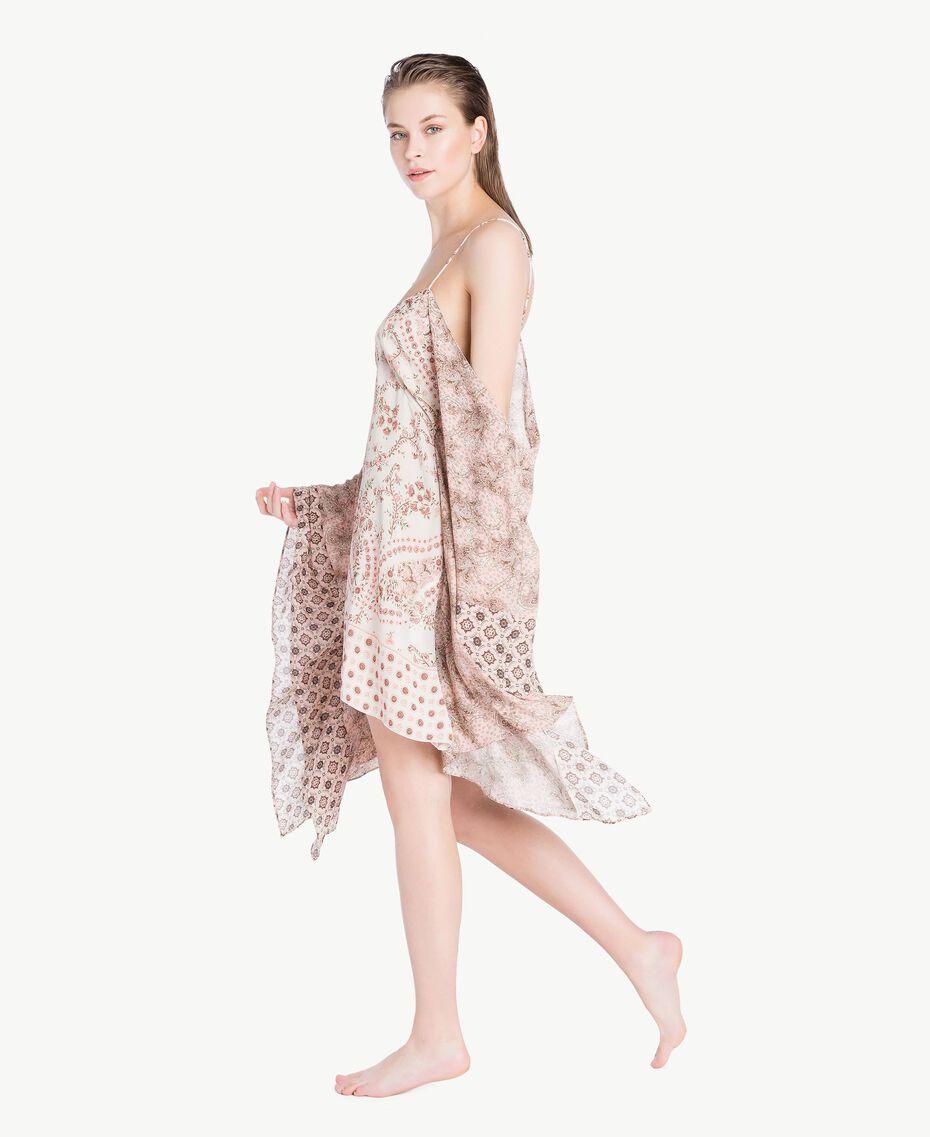 Kleid mit Print Patchprint Vegas Pink Frau BS8AJJ-03
