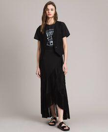 Natural canvas waistcoat Black Woman 191TT2294-0T