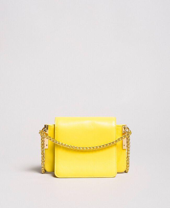 Petit Bea Bag à bandoulière en cuir Jaune Papillon Femme 191TA7142-04
