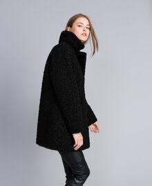Manteau en faux agneau Noir Femme JA82KN-01