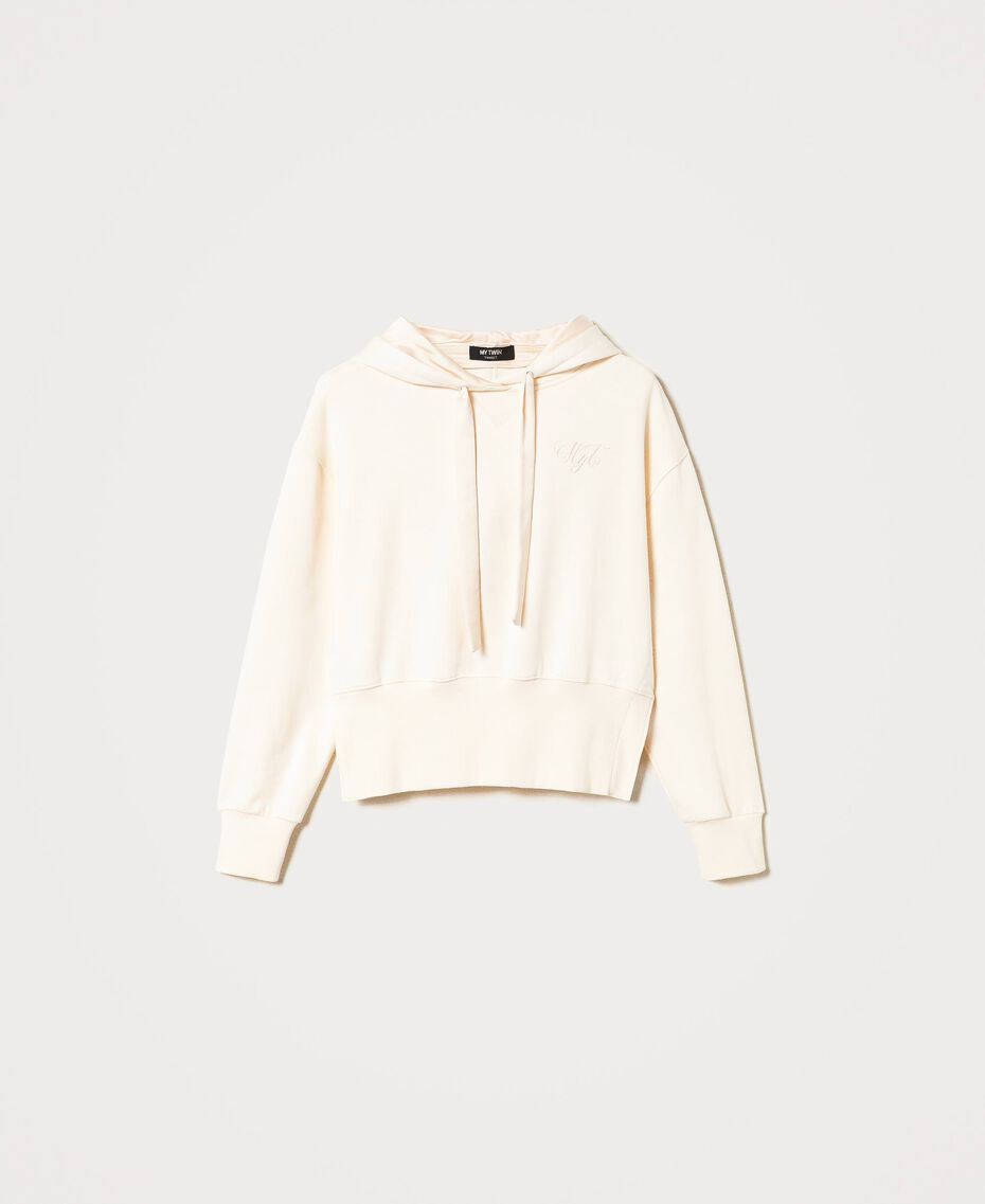 Hoodie Creamy White Woman 202MP2161-0S
