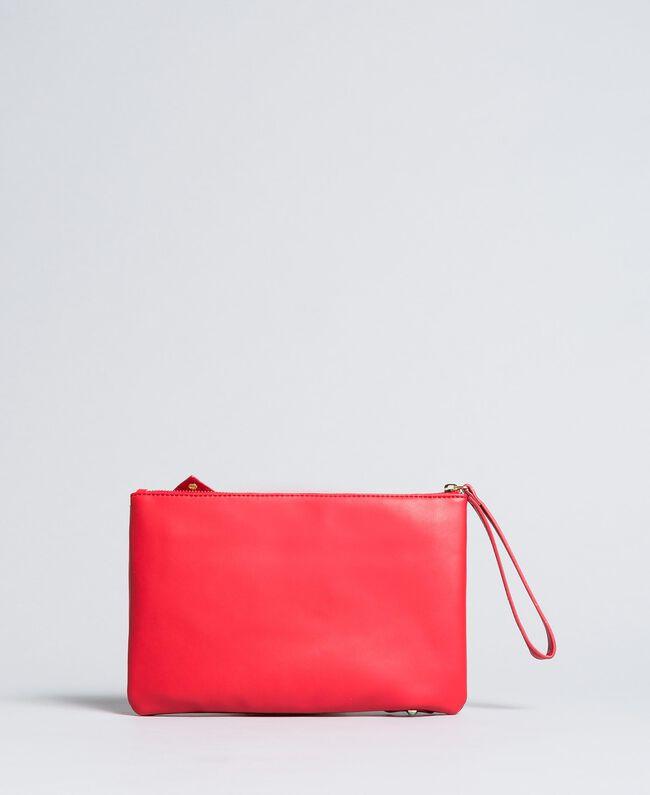 Pochette en similicuir avec nœud Rouge Coquelicot Femme VA8PB5-03