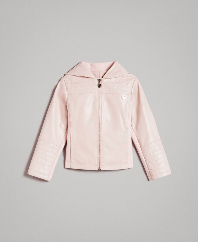 Faux leather jacket Blossom Pink Child 191GB2100-01