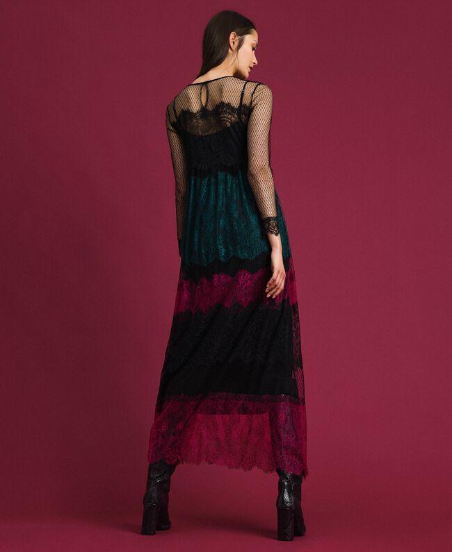Robe longue en dentelle color block Color Block Femme 192TP2702-03